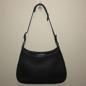 Coach vtg sm black leather Demi hobo bag
